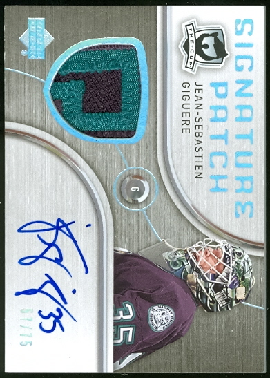2005-06 The Cup Signature Patches #SPJS Jean-Sebastien Giguere