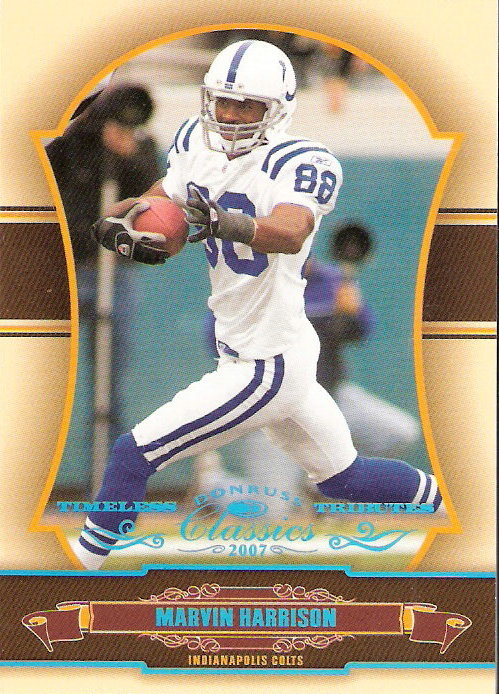 2007 Donruss Classics Timeless Tributes Platinum #43 Marvin Harrison