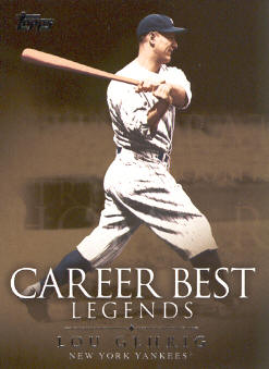 2009 Topps Legends of the Game Career Best #LG Lou Gehrig