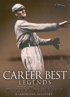 2009 Topps Legends of the Game Career Best #WJ Walter Johnson