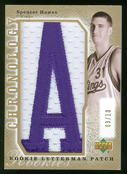 2006-07 Chronology 2007-08 Rookie Draft Redemptions Gold #256 Spencer Hawes