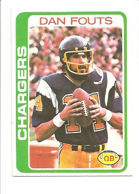 1978 Topps #499 Dan Fouts