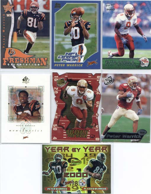 Peter Warrick, 2000 Press Pass Breakout Card #BO 1