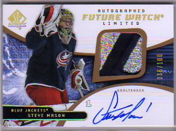2008-09 SP Authentic Limited Autographed Patches #209 Steve Mason