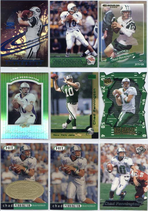 Chad Pennington, 2000 Sage Hit Card #10