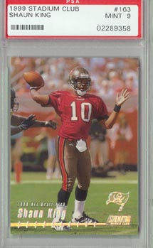 1999 Stadium Club Football #163 Shaun King PSA MINT 9 Tampa Bay BUCCANNEERS NICE!!