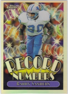 1999 Topps Chrome Record Numbers Refractors #RN4 Barry Sanders