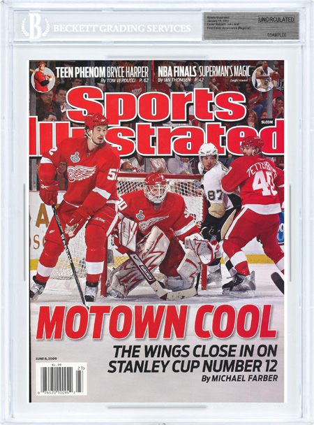 SPORTS ILLUSTRATED BGS Uncirculated Detroit Red Wings cover