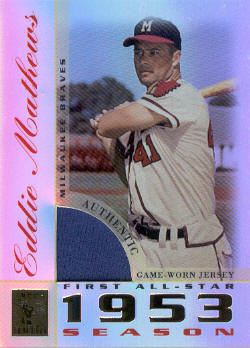 2003 Topps Tribute Perennial All-Star Relics #EM Eddie Mathews Jsy K