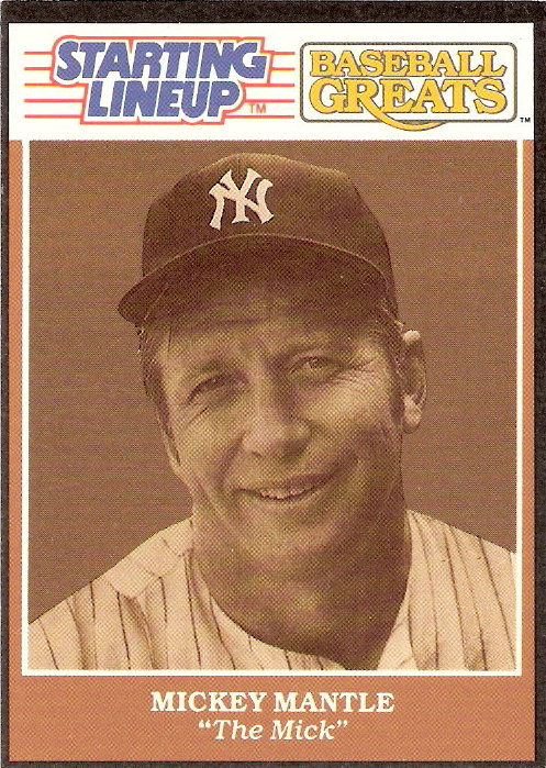 1989 Kenner Starting Lineup Greats Cards #10 Mickey Mantle