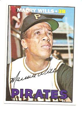 1967 Topps #570 Maury Wills