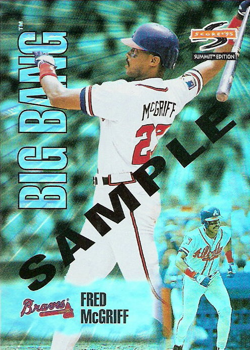 1995 Summit Samples #BB17 Fred McGriff