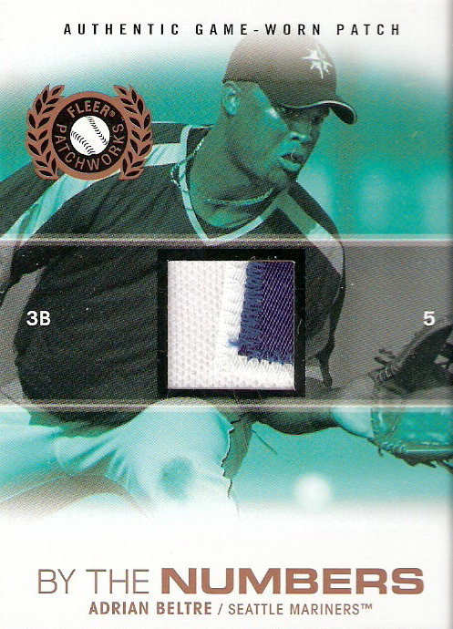 2005 Fleer Patchworks By the Numbers Patch #AB Adrian Beltre