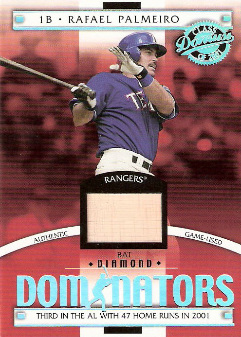 2001 Donruss Class of 2001 Diamond Dominators #DM7 Rafael Palmeiro Bat/550