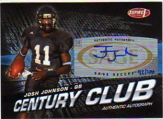 2008 Aspire Century Club Autographs #6 Josh Johnson