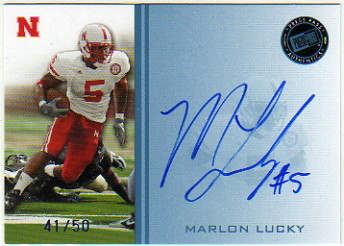 2009 Press Pass Autographs Blue #ML Marlon Lucky/50