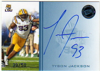 2009 Press Pass Autographs Blue #TJ Tyson Jackson/50