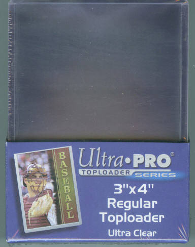 Pack of (25) Ultra Pro Regular Clear Top Loaders