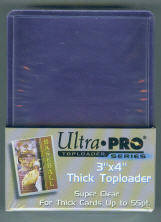 Pack of (25) Ultra Pro Premium Clear Thick Top Loaders 55pt