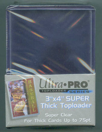 Pack of (25) Ultra Pro Premium Clear Thick Top Loaders 75pt