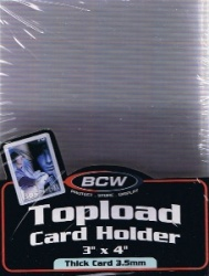 Pack of (10) BCW Clear Super Thick Top Loaders 138pt
