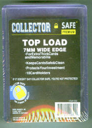 Pack of (10) Collector Safe Clear Super Thick 7MM Top Loaders 240pt