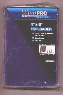 Pack of (25) Ultra Pro Premium 4x6 Top Loaders