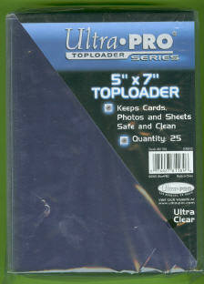 Pack of (25) Ultra Pro Premium 5x7 Top Loaders