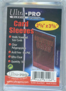 Lot of (1,000) Ultra Pro Soft Card Sleeves ~ (10) Packs of (100) Sleeves