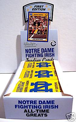 1990 Notre Dame Collegiate Collection Trading Cards Unopened Box (36 Packs)