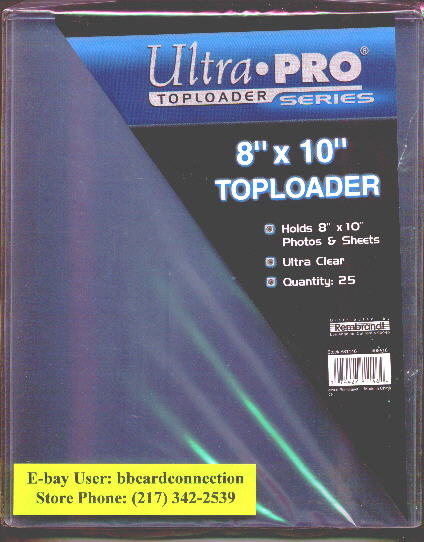 Lot of (50) Ultra Pro Premium 8x10 Clear Top Loaders