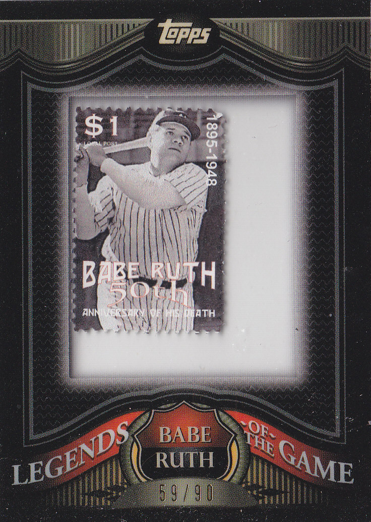 2009 Topps Legends of the Game Framed Stamps #BR7 Babe Ruth