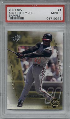 2001 SPx Baseball #001 Ken Griffey Jr. Sample Promo Mint PSA 9 Hard To Find!!