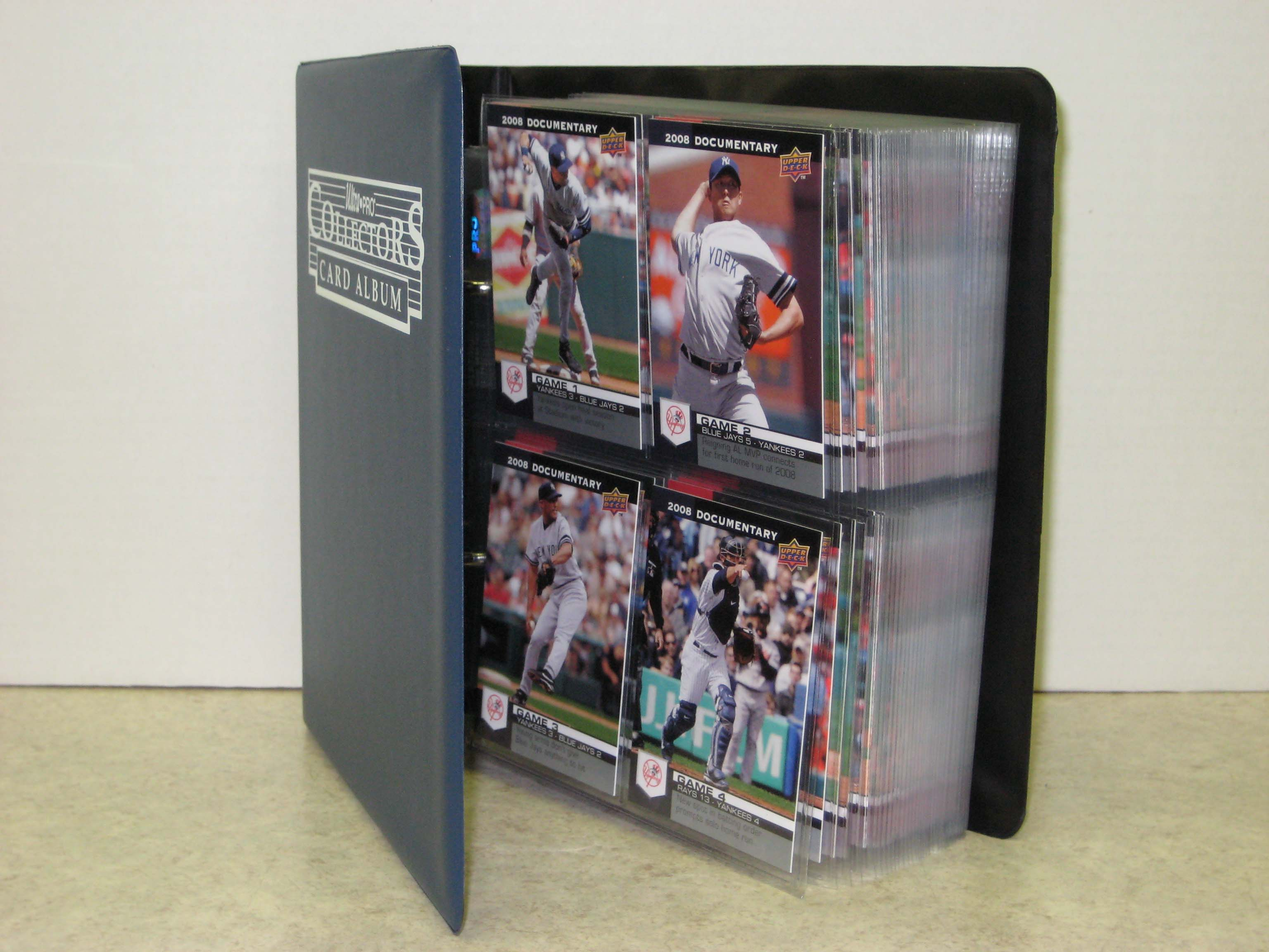 2008 Upper Deck Documentary New York Yankees 163-card Team/Season Set w/ Collectors Binder + Protective Pages