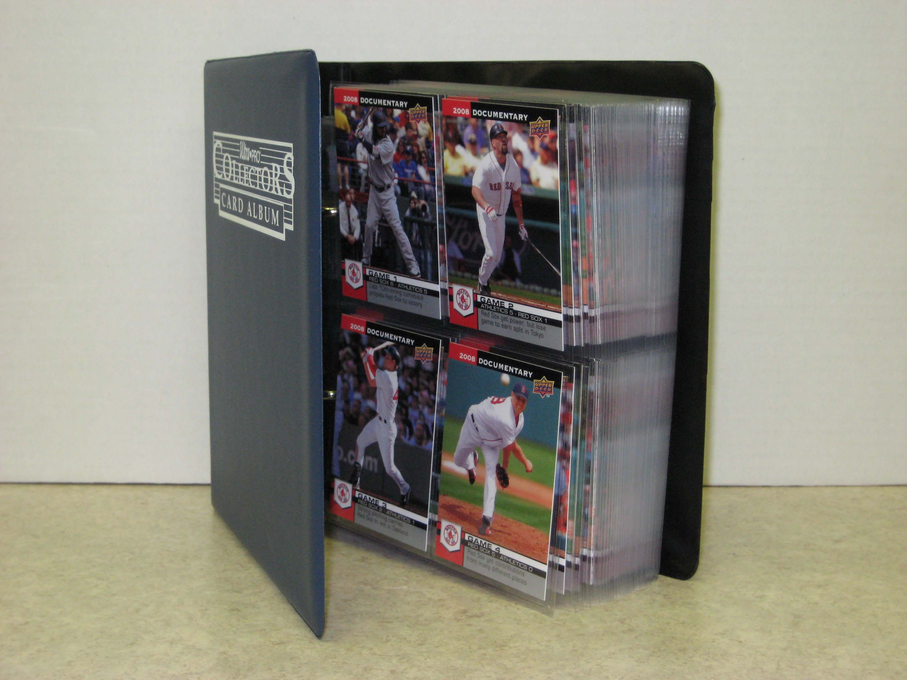 2008 Upper Deck Documentary Boston Red Sox 163-card Team/Season Set w/ Collectors Binder + Protective Pages