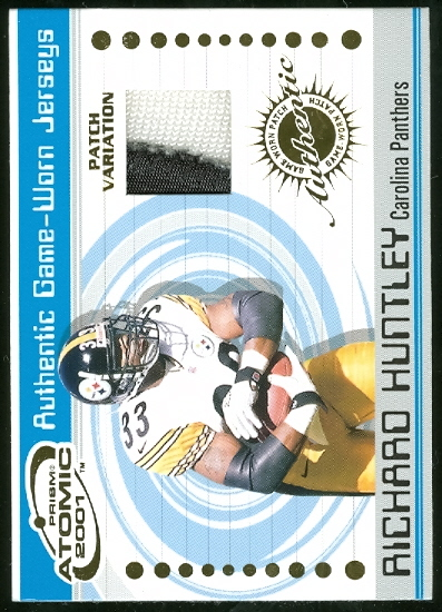 2001 Pacific Prism Atomic Jersey Patches #110 Richard Huntley