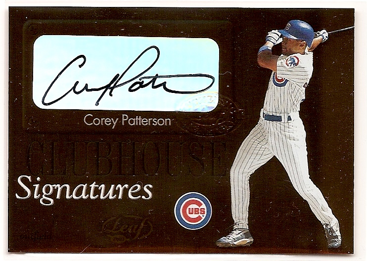 2003 Leaf Clubhouse Signatures Bronze #11 Corey Patterson SP/100