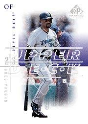 2001 SP Game Used Edition #8 Greg Vaughn