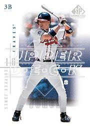 2001 SP Game Used Edition #32 Chipper Jones