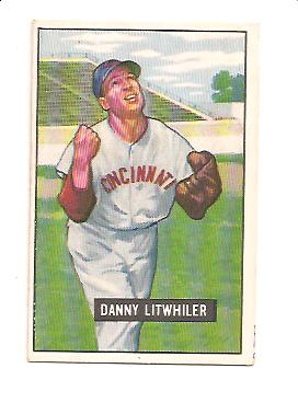 1951 Bowman #179 Danny Litwhiler