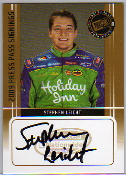 2009 Press Pass Signings Gold #23 Stephen Leicht