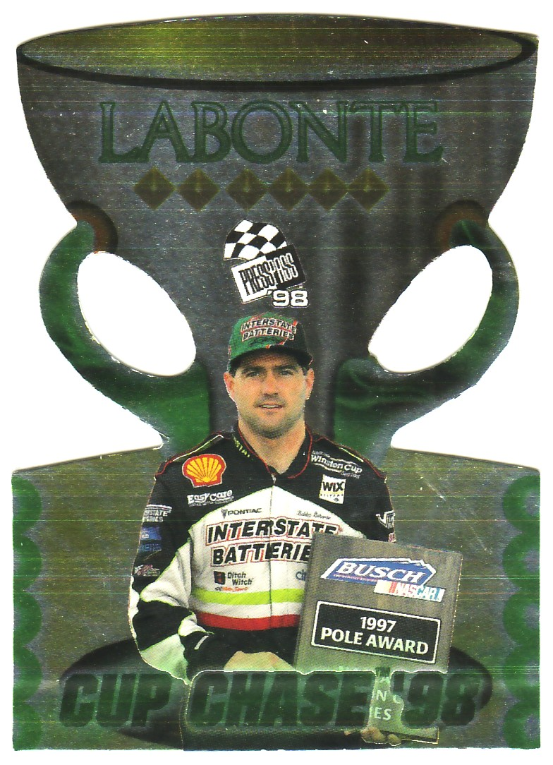 1998 Press Pass Cup Chase Die Cut Prizes #CC11 Bobby Labonte