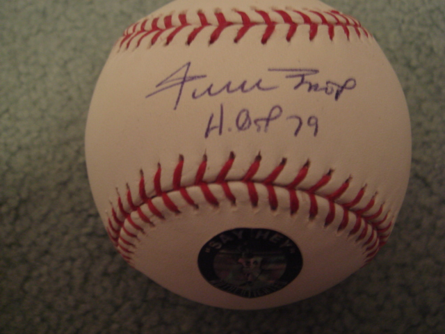 Willie Mays Autographed Official MLB Baseball With HOF 79 Ins. With Mays Hologram COA 