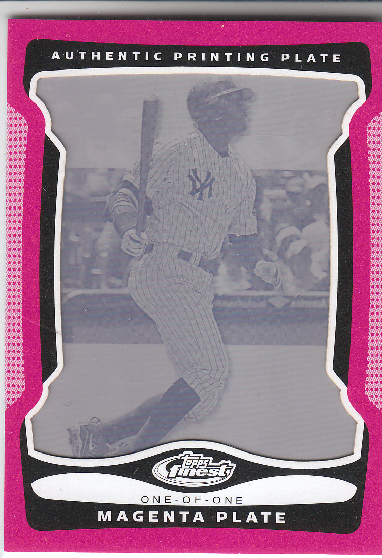 2009 Finest Printing Plates Magenta #13 Alex Rodriguez