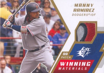 2009 SPx Winning Materials Patch #WMRA Manny Ramirez