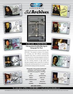 2009 Razor Ink Archives Factory Sealed Hobby Pack (1 Certified Autograph in Every Pack)