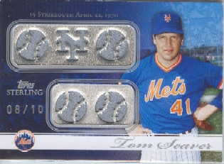 2008 Topps Sterling Moments Relics Five Sterling Silver #5SM24 Tom Seaver