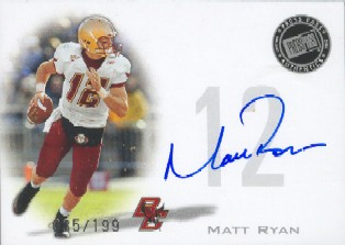 2008 Press Pass Autographs Silver #PPSMR Matt Ryan