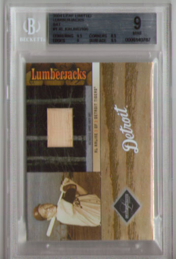 2004 Leaf Limited Lumberjacks Al Kaline/100 Game Used Bat BGS  9.0!!