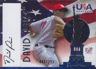 2006-07 USA Baseball Signatures Jersey Black #7 David Price